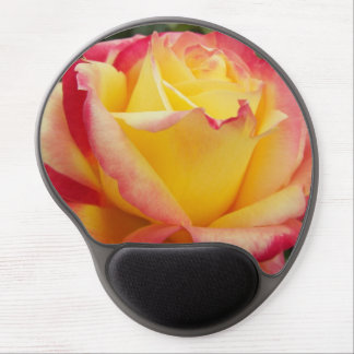 Pink and Yellow Rose Gel Mouse Pad
