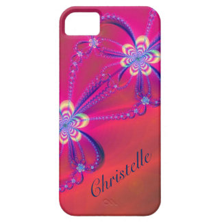Pink and Yellow Striped Flower Fractal Case For The iPhone 5