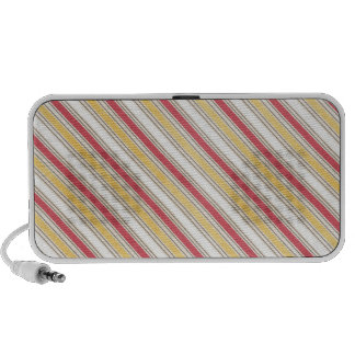 pink and yellow stripes speaker system