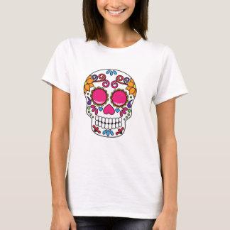 Pink and Yellow Sugar Skull T-Shirt