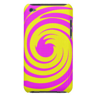 Pink and yellow swirl iPod Case-Mate case