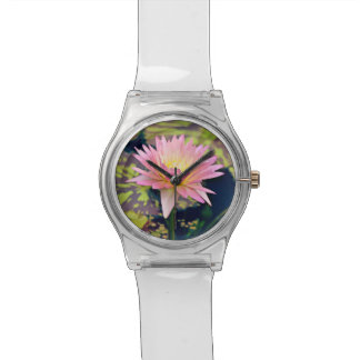 Pink and Yellow Water Lily Watch