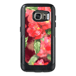 Pink and Yellow Watercolor Roses With Greens OtterBox Samsung Galaxy S7 Case