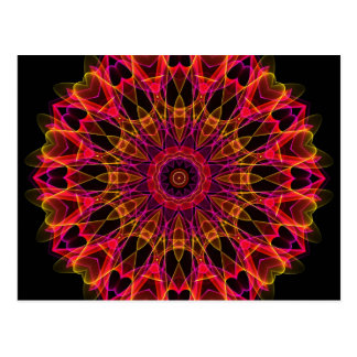 Pink and Yellow Wonder kaleidoscope Postcard