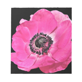 Pink Anemone Flower Notepads