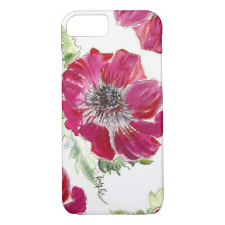 Pink Anemone Watercolor iPhone 7 case