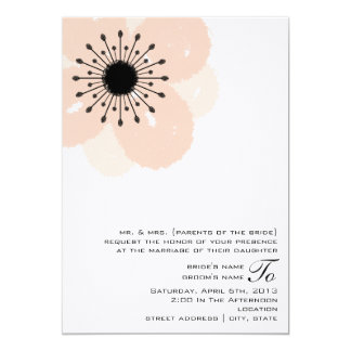 Pink Anemone Wedding Invite: From Parents Of Bride Card