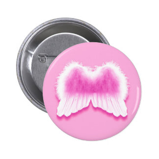 Pink Angel Wings 2¼ Inch Round Button
