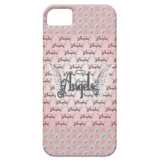 Pink Angels Background with Wings and Halo iPhone 5 Covers