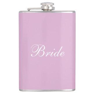 Pink Angora Custom Bride Bachelorette Party Flask