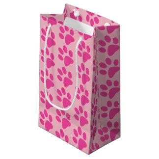 Pink Animal Paw Print Small Gift Bag