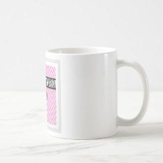 Pink animal print with bow design coffee mug