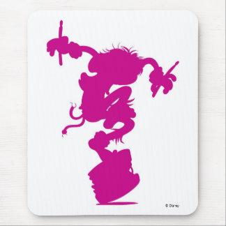 Pink Animal Silhouette Drumming Disney Mouse Pad