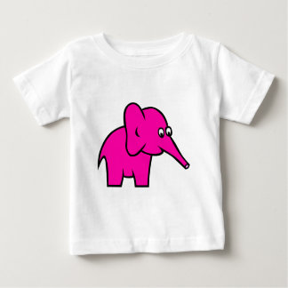 Pink animation cartoon elephant illustration t-shirt