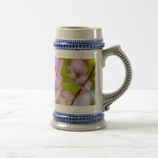 Pink Apple Blossom Beer Stein