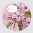 PINK APPLE BLOSSOMS WATERCOLOR FLOWER STICKERS