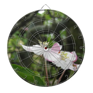 Pink apple flower in spring . Tuscany, Italy Dartboard With Darts