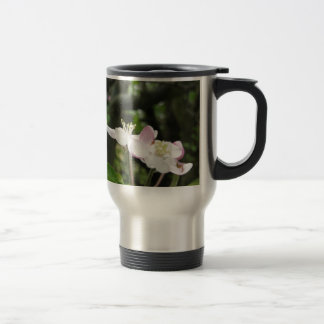 Pink apple flower in spring . Tuscany, Italy Travel Mug