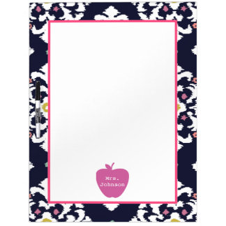 Pink Apple Ikat Teacher Dry Erase Board