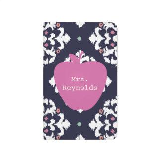 Pink Apple & Ikat Teacher Journal