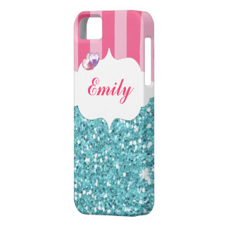 Pink & Aqua Keep Calm and Sparkle On IPhone 5 Case