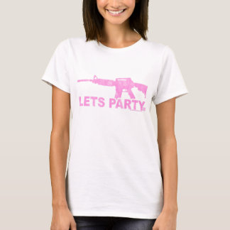 Pink AR15 Lets Party Worn Look T-Shirt