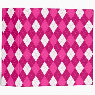 Pink Argyle 2 Inch Binder