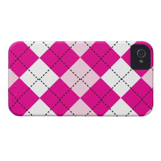 Pink Argyle Blackberry Bold Case