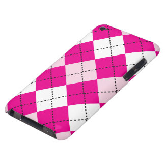 Pink Argyle Barely There iPod Cases