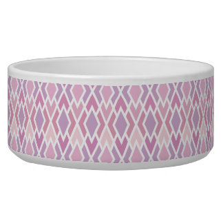 Pink Argyle Dog Bowls