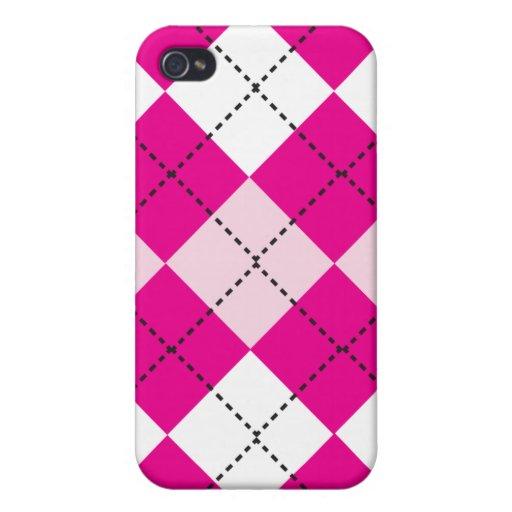 Pink Argyle iPhone 4 Case