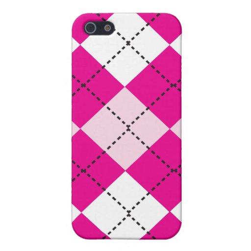 Pink Argyle iPhone 5 Case