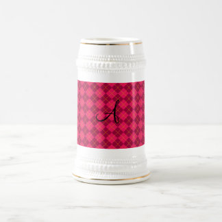 Pink argyle monogram gifts mugs