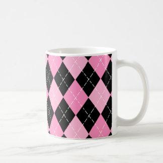Pink Argyle Pattern Mug
