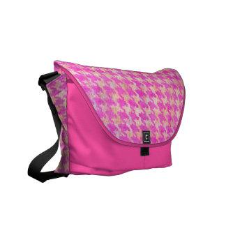Pink Argyle Rickshaw Bag Courier Bag