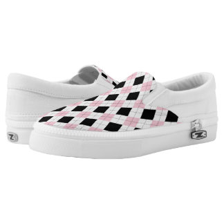 Pink Argyle Sneakers