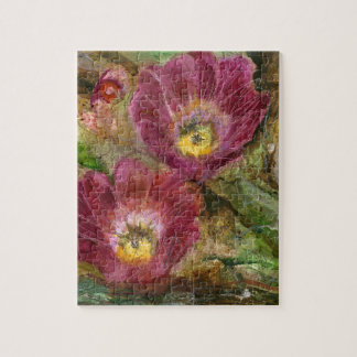 Pink Arizona Desert Flowers Jigsaw Puzzle