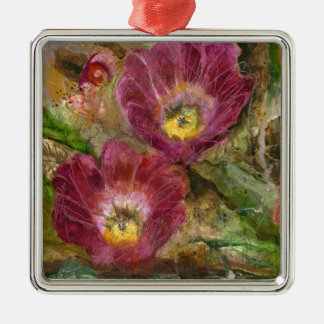 Pink Arizona Desert Flowers Metal Ornament