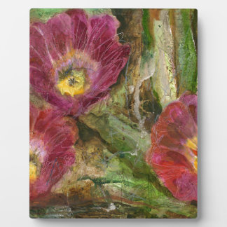Pink Arizona Desert Flowers Plaque