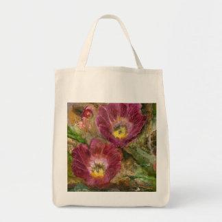 Pink Arizona Desert Flowers Tote Bag
