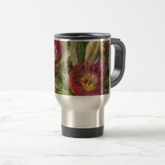 Pink Arizona Desert Flowers Travel Mug