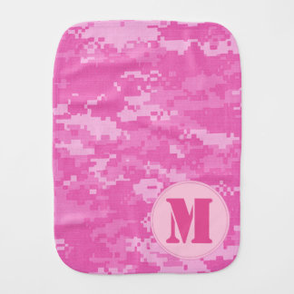 Pink ARMY ACU Camo Camouflage Burp Cloth