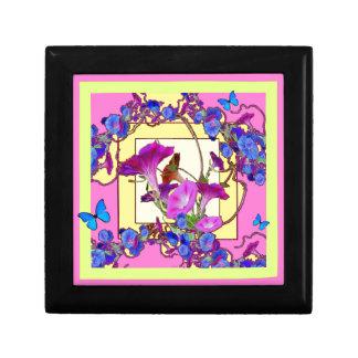 Pink art Blue Morning glories Gift Box