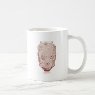 Pink Art Deco glass vase with bubbles. Coffee Mug