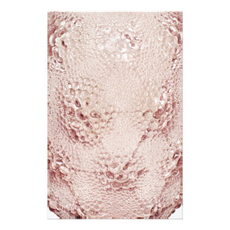 Pink Art Deco glass vase with bubbles. Stationery