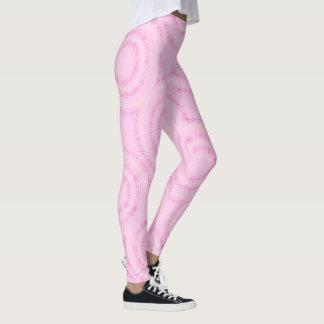 Pink artsy design leggings