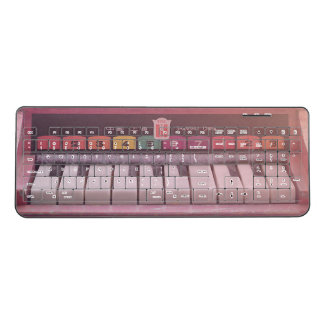 Pink Asian Keys Wireless Keyboard