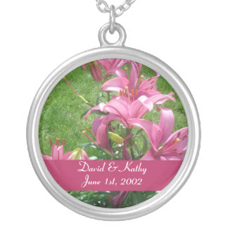 Pink Asiatic Lilies Flower Necklace