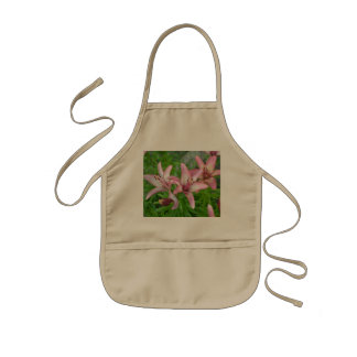 Pink Asiatic Lilies Kids Apron
