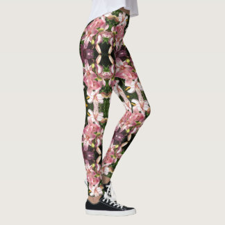 Pink Asiatic Lilies Leggings